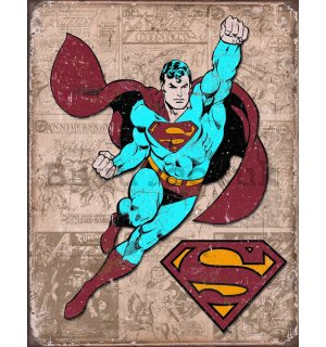 Metal sign - Superman Weathered Panels
