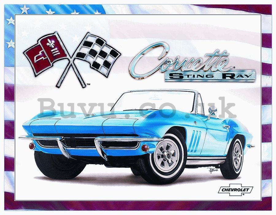 Metal sign - Corvette (Sting Ray)