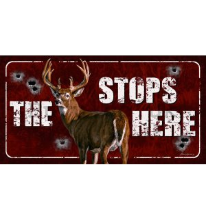 Metal sign - The Buck Stops Here