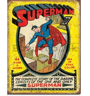 Metal sign - Action Superman