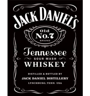 Metal sign - Jack Daniel's Metal Sign (Black Logo)