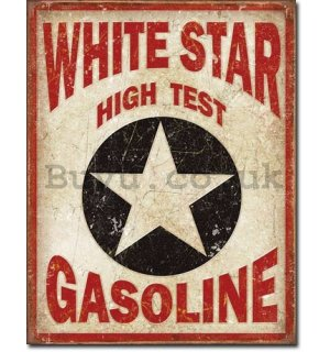 Metal sign - White Star Gasoline