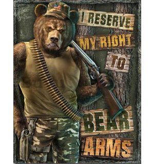Metal sign - Right to Bear Arms