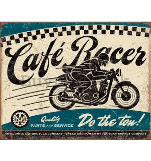 Metal sign - Cafe Racer
