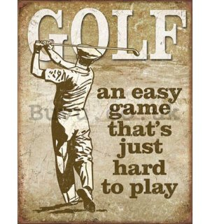 Metal sign - Golf (2)