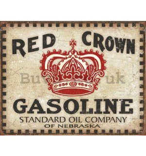 Metal sign - Red Crown Gasoline