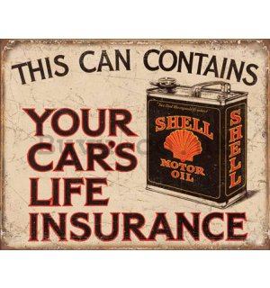 Metal sign - This Can Contain Your Car's Life Insurance