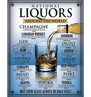 Metal sign - National Liquors