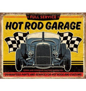 Metal sign - Hot Rod Garage