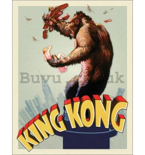 Metal sign - King Kong