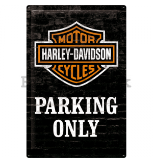 Metal sign - Harley-Davidson (Parking Only)