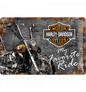 Metal sign - Harley-Davidson (My Favorite Ride)