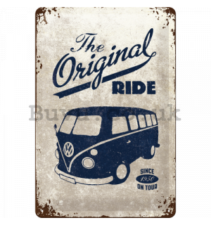 Metal sign - VW The Original Ride (grey)