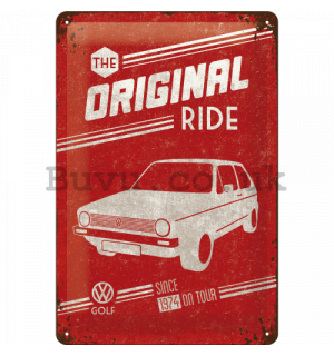 Metal sign - VW The Original Ride (red)