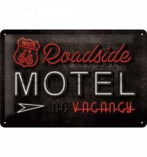 Metal sign - Route 66 (Motel)