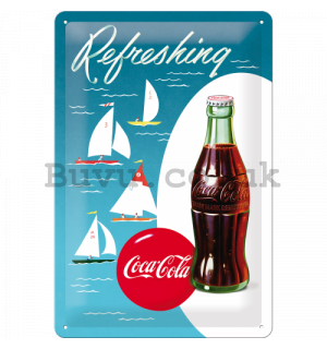 Metal sign - Coca-Cola (ships)