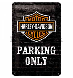 Metal sign: Harley-Davidson Parking Only - 30x20 cm