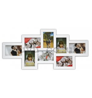 Photo frame - 8 windows, 10x15cm (White)