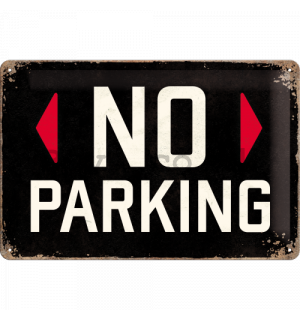 Metal sign - No Parking (black)