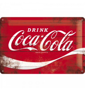 Metal sign: Coca-Cola (classical logo) - 20x30 cm