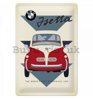 Metal sign - BMW Isetta