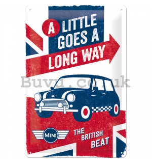 Metal sign - Mini Cooper (A Little Goes a Long Way)