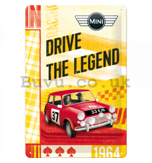 Metal sign - Mini Cooper (Drive the Legend)