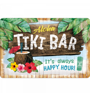 Metal sign - Tiki Bar