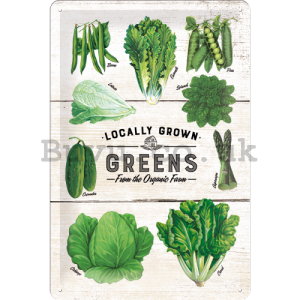 Metal sign - Localy Grown Greens