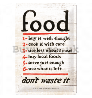 Metal sign - Food (Rules)