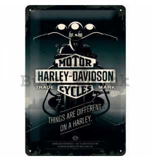 Metal sign - Harley-Davidson (Things Are Different on a Bike)