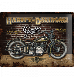 Metal sign - Harley-Davidson Genuine 1933