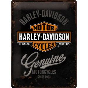 Metal sign: Harley-Davidson Genuine - 40x30 cm