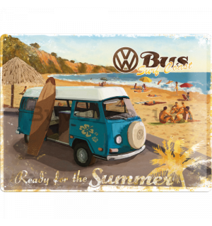 Metal sign - VW Bus (Ready for the Summer)