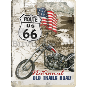 Metal sign - Route 66 Old Trails Road