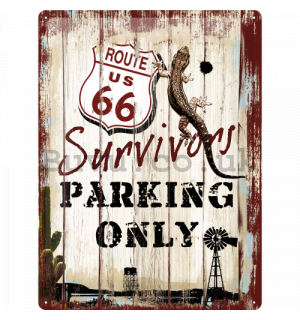 Metal sign - Route 66 Parking Only