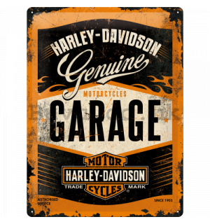 Metal sign: Harley-Davidson (Garage) - 40x30 cm