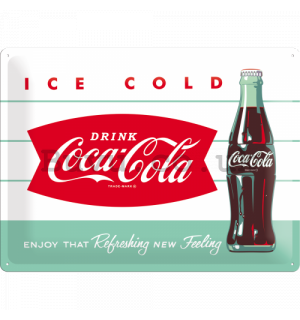 Metal sign - Coca-Cola (Ice Cold)