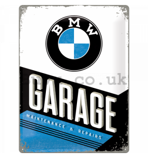 Metal sign: BMW Garage - 40x30 cm