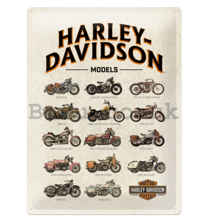 Metal sign - Harley-Davidson (types)