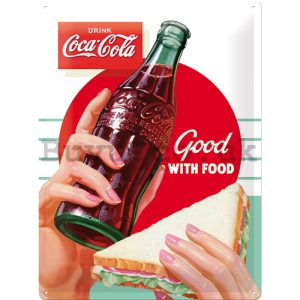 Metal sign - Coca-Cola (Good with Food)