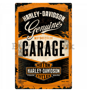 Metal sign: Harley-Davidson (Garage) - 60x40 cm