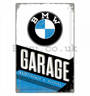 Metal sign: BMW Garage - 60x40 cm