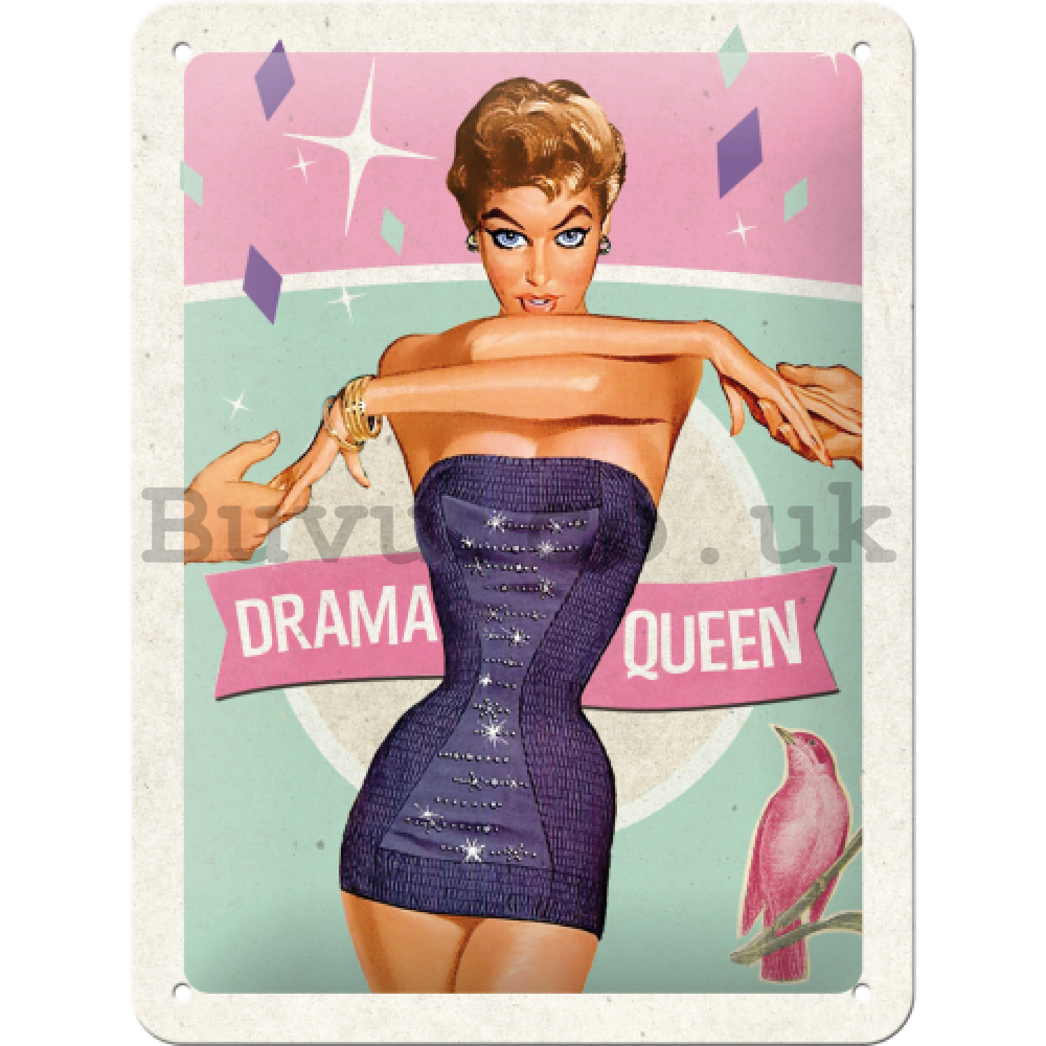 Metal sign - Drama Queen