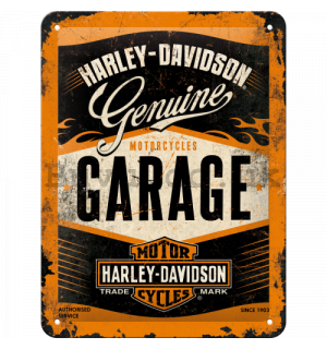 Metal sign: Harley-Davidson (Garage) - 20x15 cm