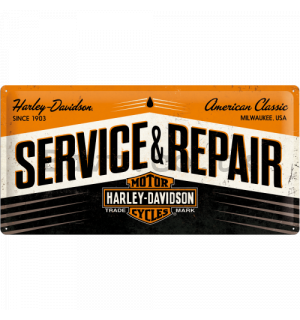 Metal sign - Harley & Davidson (Service & Repair)