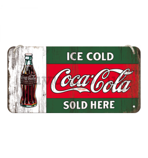 Wall hanging sign - Coca-Cola (Ice Cold Sold Here)