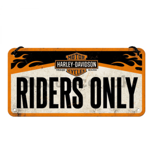 Wall hanging sign - Harley-Davidson Riders Only