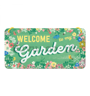 Wall hanging sign - Welcome to my Gargen