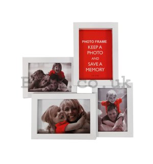 Photo frame - 4 windows, 10x15cm (White)